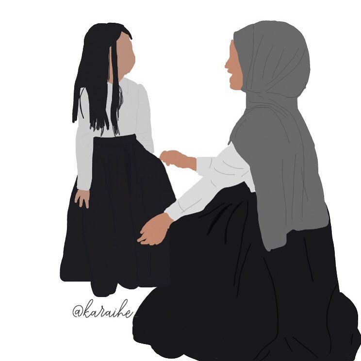 Nouvel family mère fille islam hijab tumblr draw dessin postbad goal BY-68