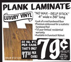 Plank Laminate Luxury Vinyl From Ollie S Bargain Outlet 0 79 Luxury Vinyl Laminate Real Hardwood Floors