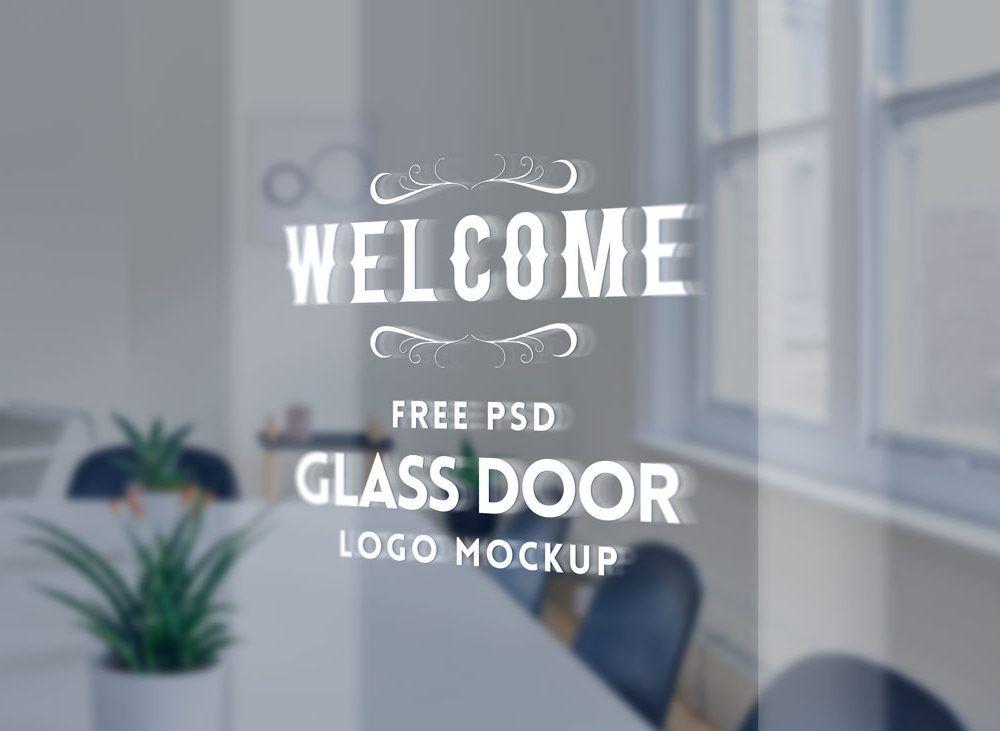 Glass Door Logo Mockup Logo Mockup Free Mockup Mockup