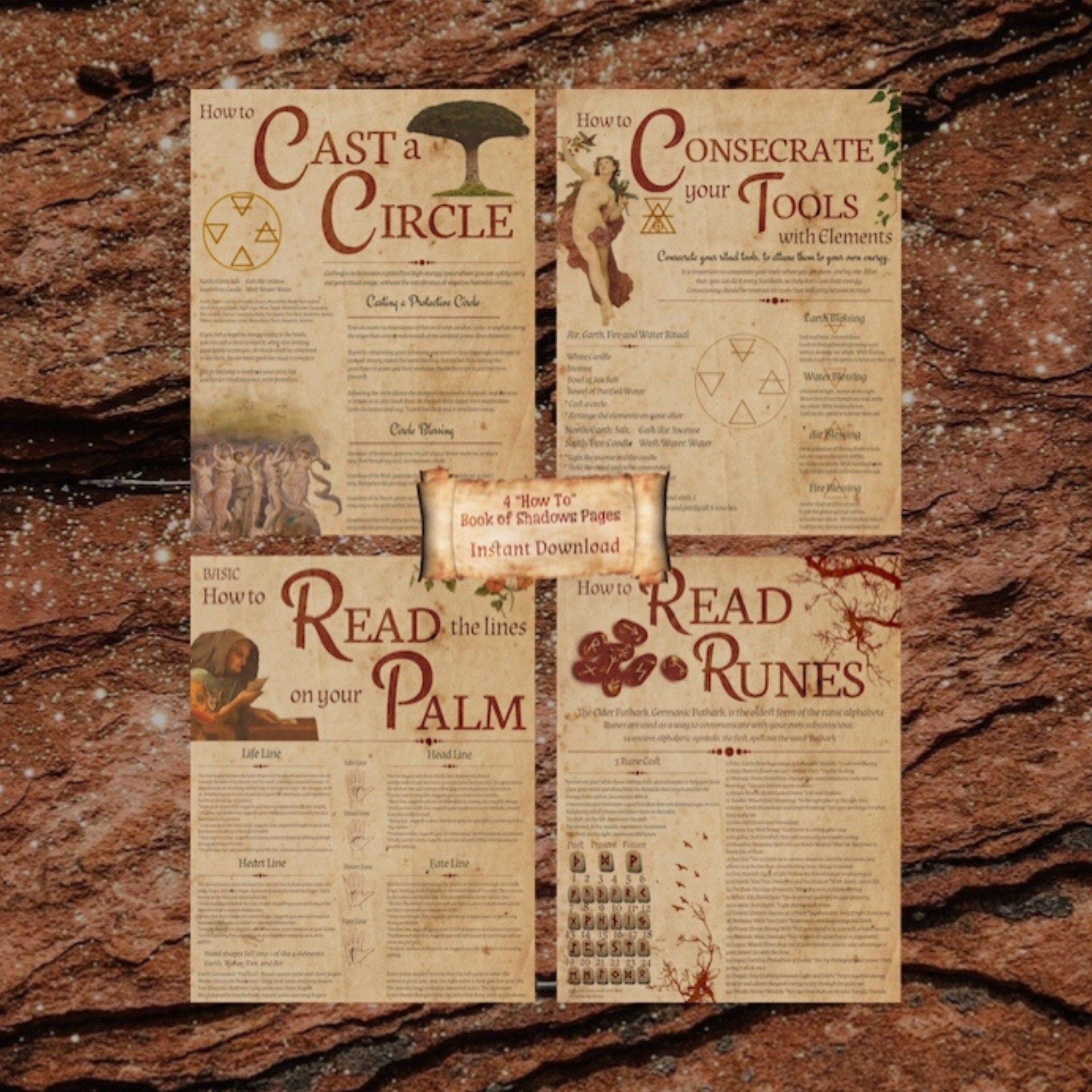 Book of Shadows Pages How to Pages Digital Download Etsy