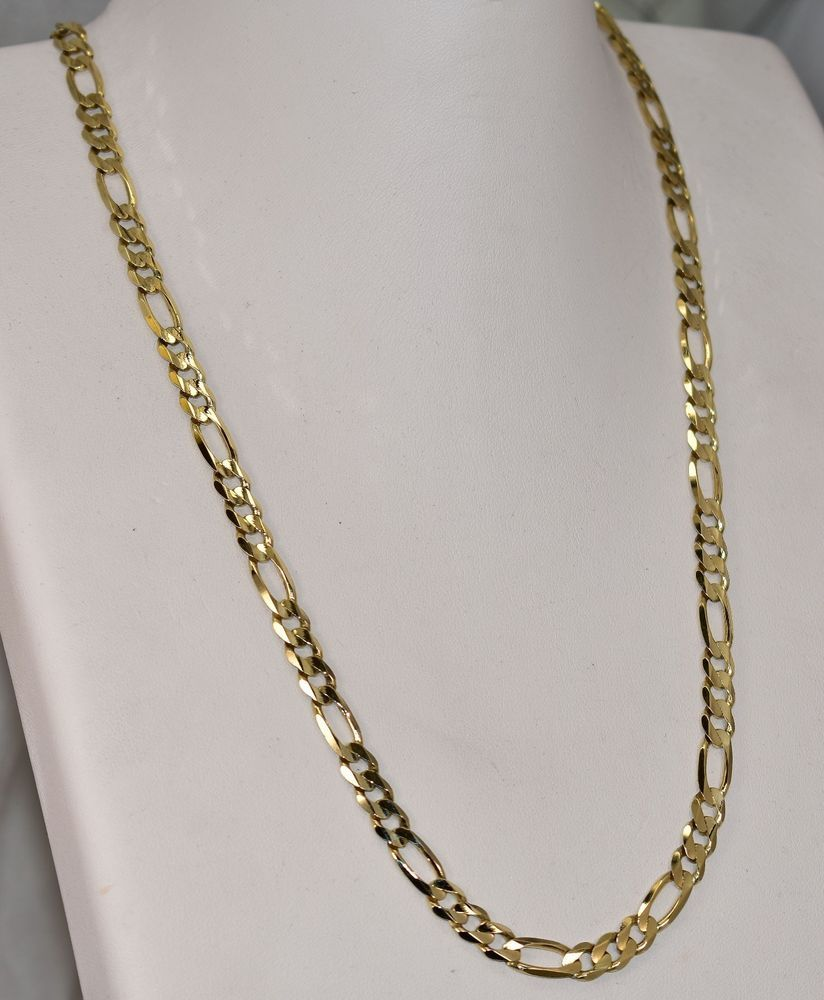 10 K Yellow Gold 6 Mm Figaro Chain 21 Inch 24 3 Grams Chain Gold Chains For Men Chain Yellow Gold Chain