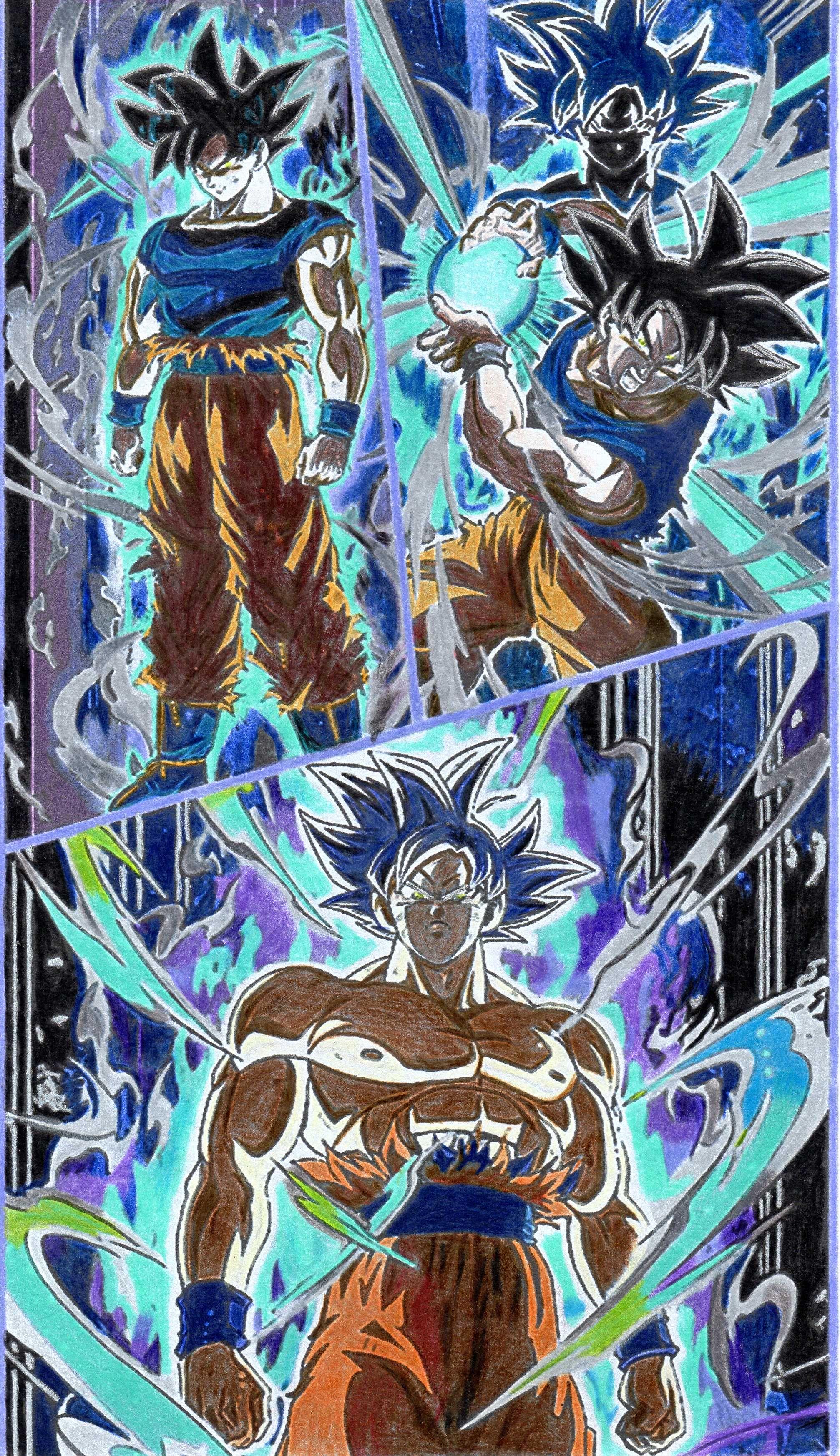 Dessin Dragon Ball Goku Ultra Instinct