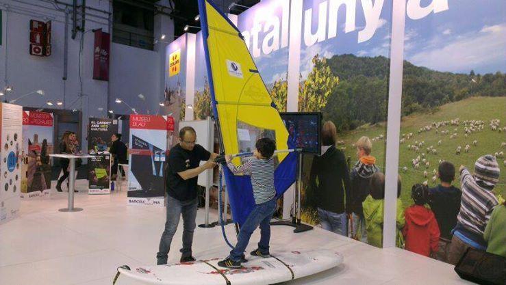 La molt esperada sorpresa de la darrera jornada: el simulador de windsurf de l' @Ajuntament de Vilanova i la Geltrú!! Quina emoció! #SITC14 @Catalunya Experience @Saló Internacional del Turisme a Catalunya #BCNmoltmes_SITC14 #BCNmoltmes