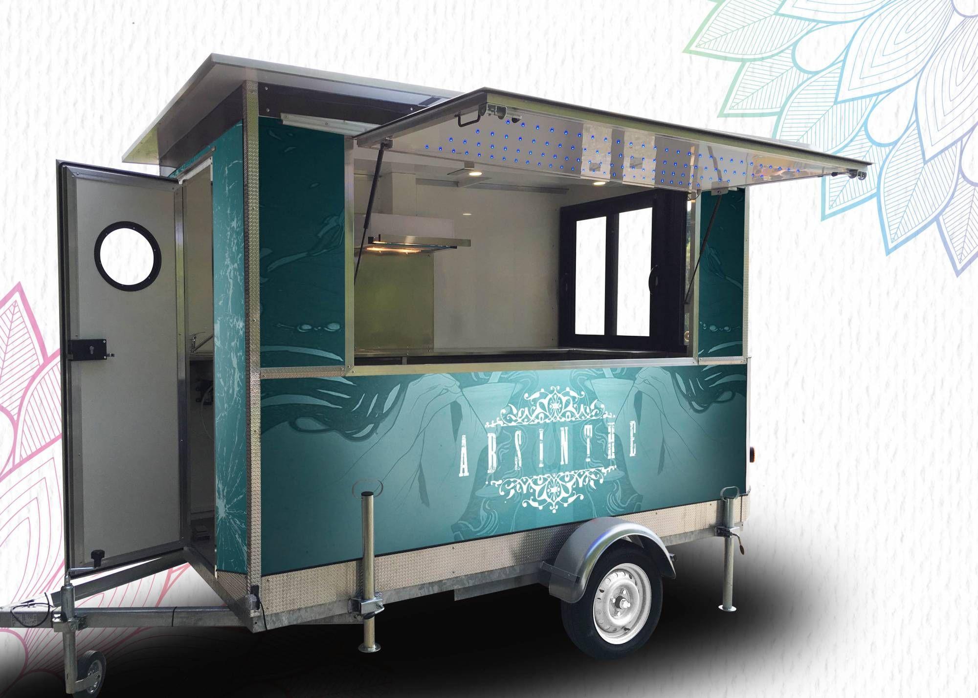 Marque mazaki motor produits food truck remorque for Remorque cuisine mobile
