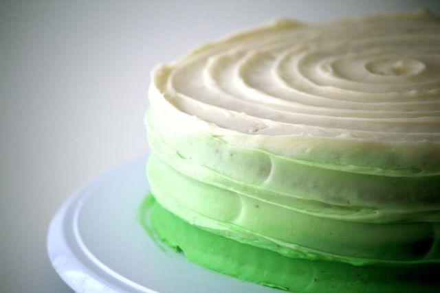 key lime ombre cake! so pretty!!