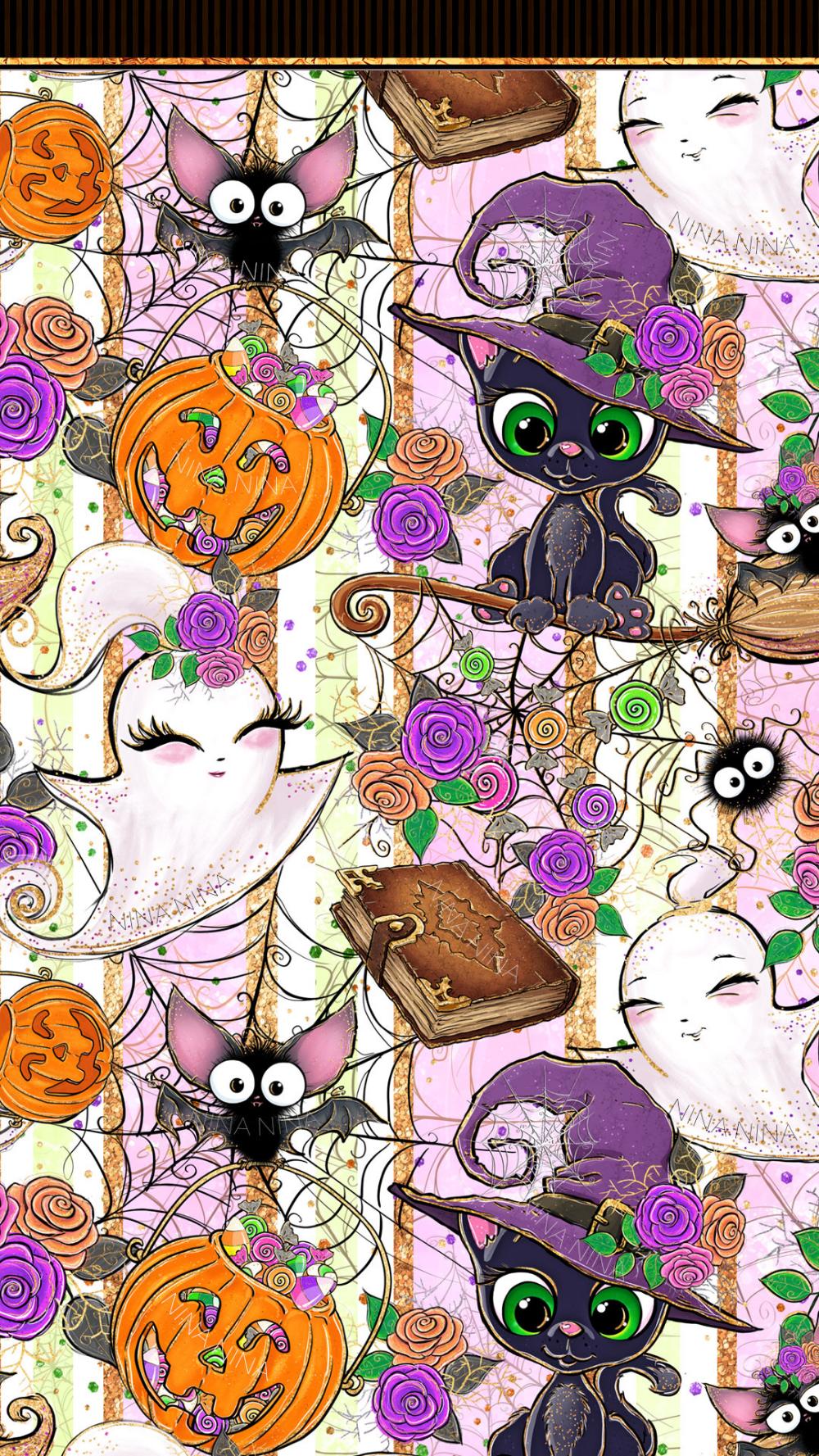 Cute Halloween Digital Paper Pack Halloween Seamless Etsy Glitter Planner Halloween Digital Halloween Wallpaper Cute
