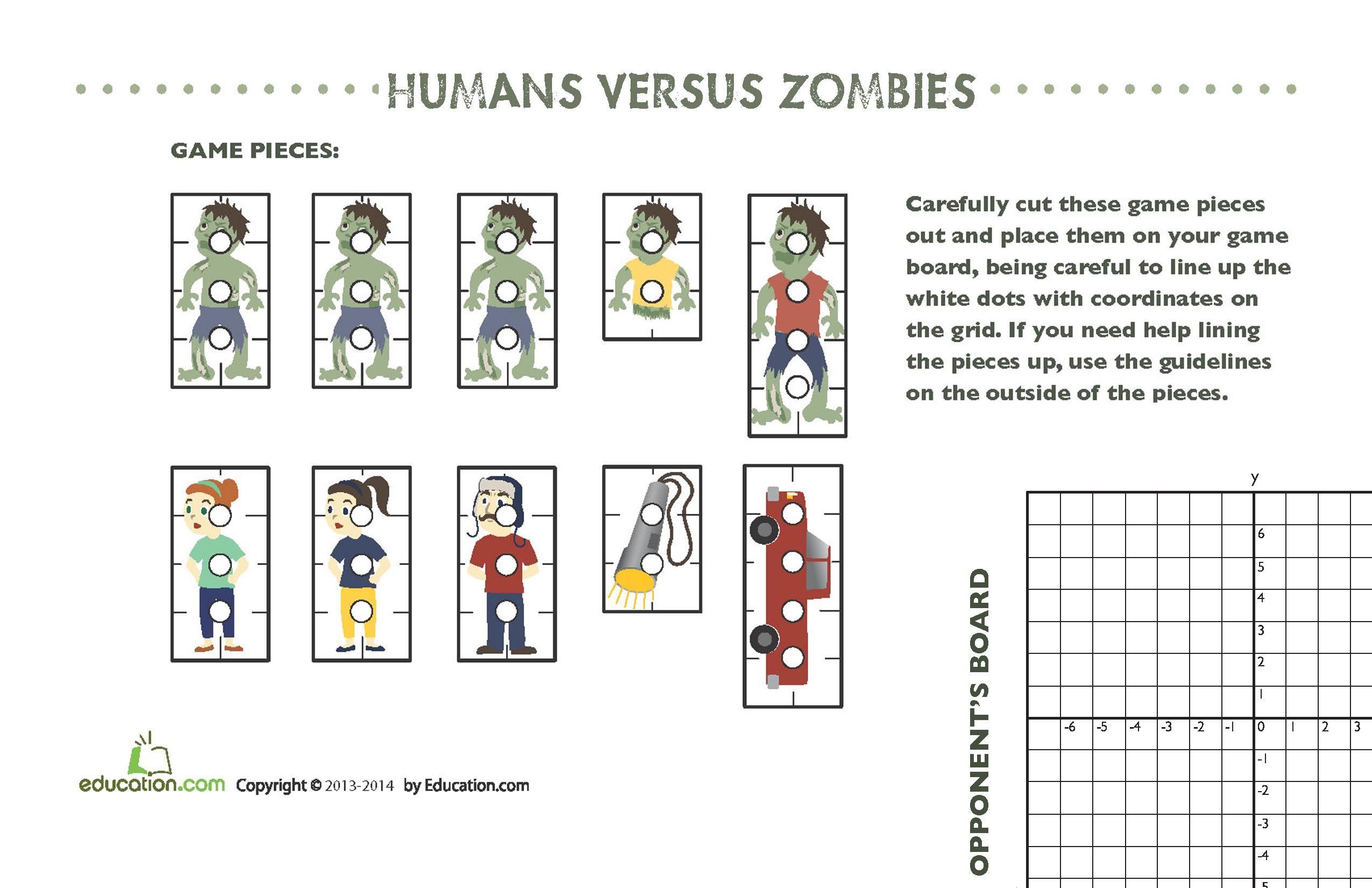 Zombie Game Worksheet Education Com Language Experience Education Com Language Therapy [ 1650 x 2550 Pixel ]