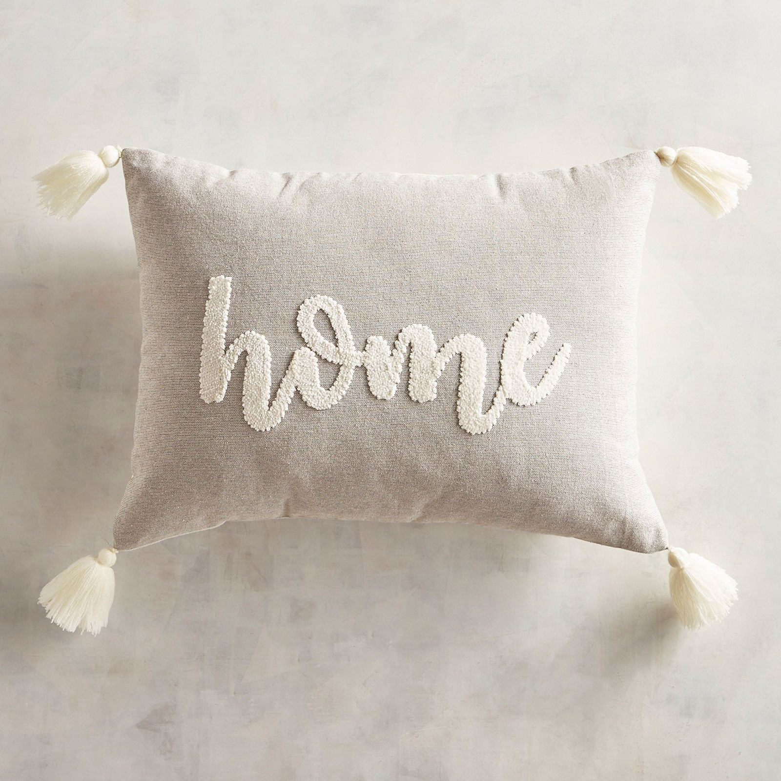 Industrial Home Lumbar Pillow With Tassels In 2019 Home Is Where