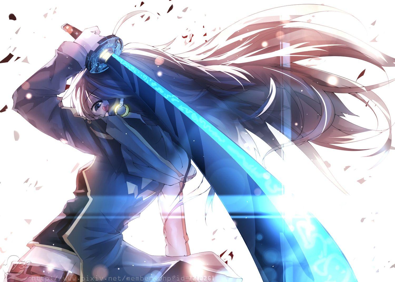 bai_yemeng black_eyes black_hair katana long_hair original sword