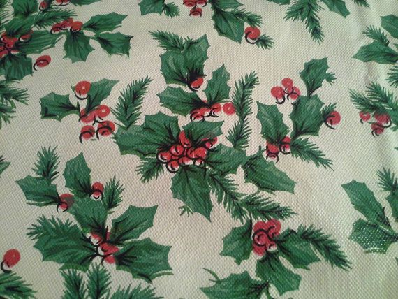 beautiful set of 4 handmade vintage vinyl christmas placemats size 1218 with green holly