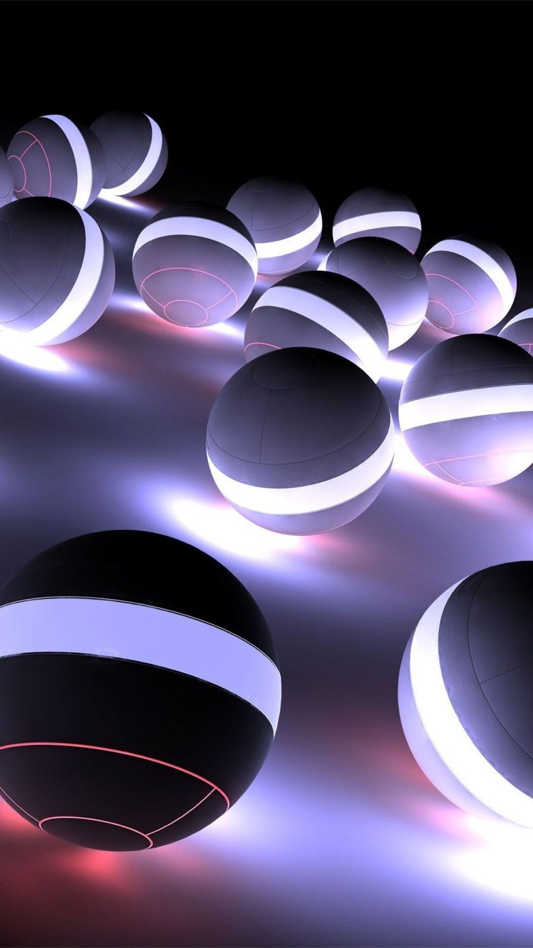 Blanc i negre 3D Fond d'écran coloré, Fond ecran iphone