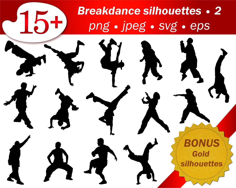 Hip hop dancer SVG man silhouette people cricut stencil ...