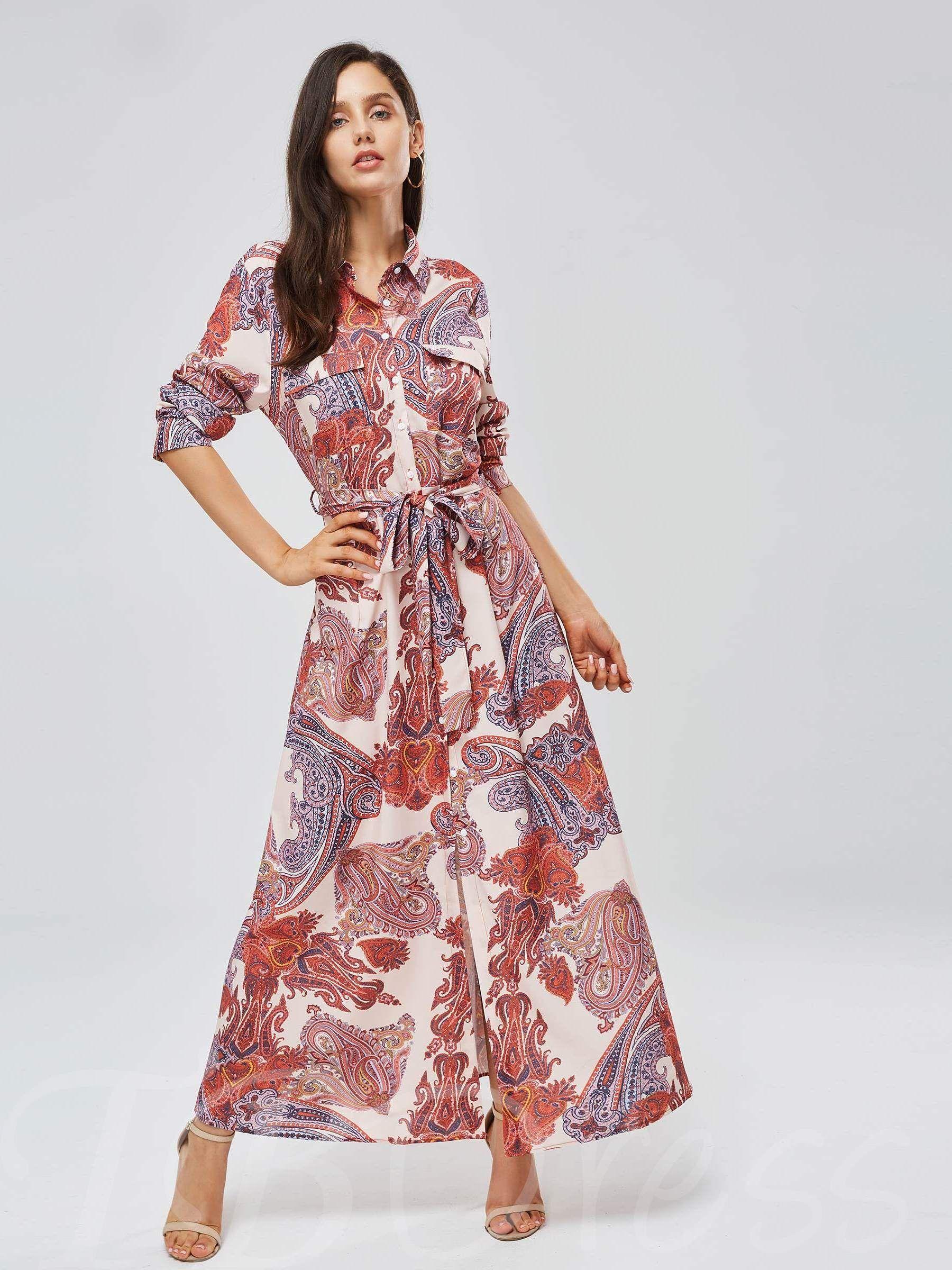 Long sleeve pocket button womenus maxi dress beauty pinterest