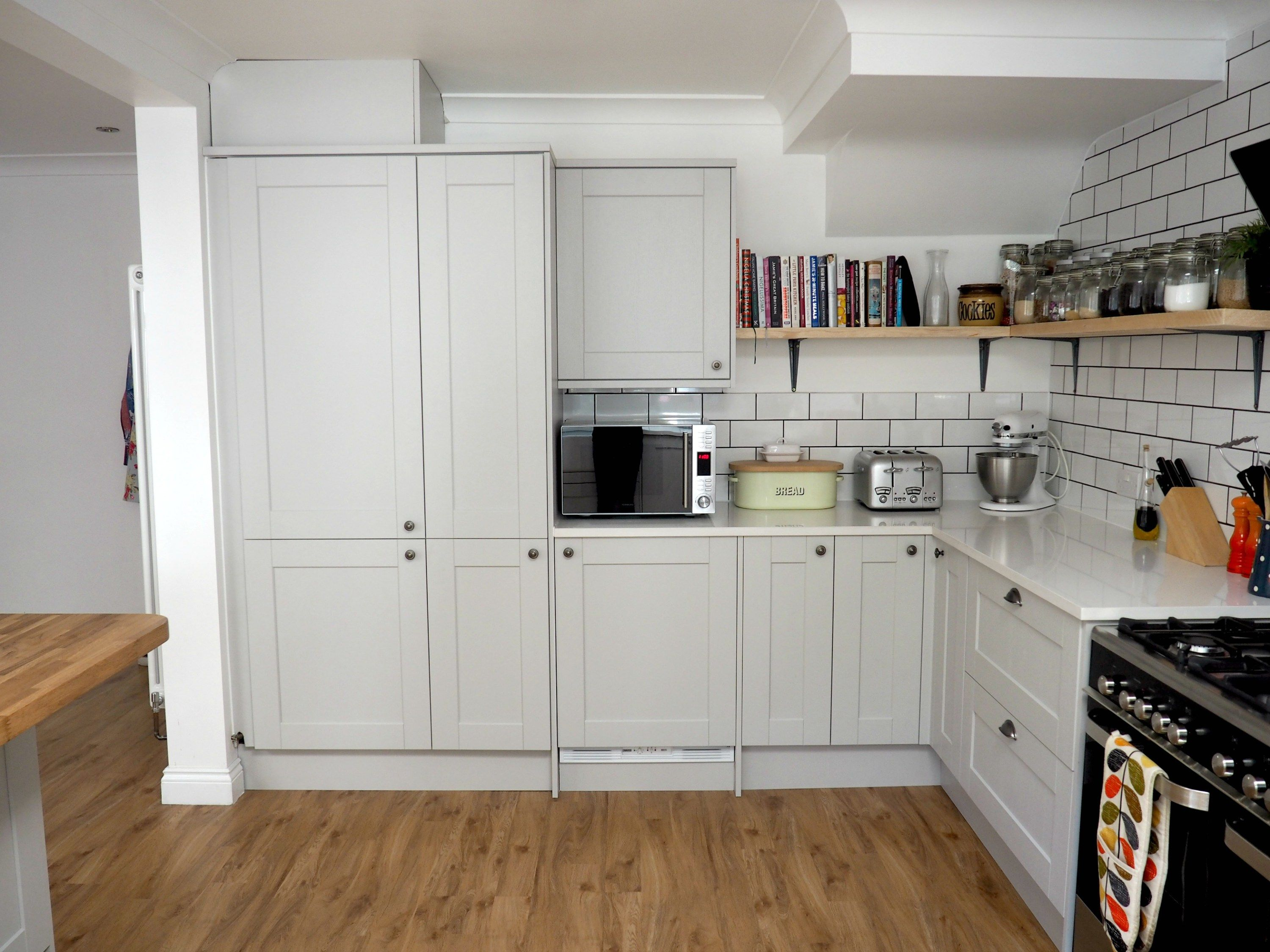 A glimpse of our fab new kitchen renovation- Howdens Burford Grey ...