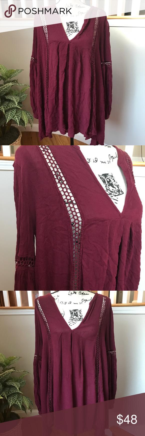 free people crochet lace long sleeve dress crochet lace free