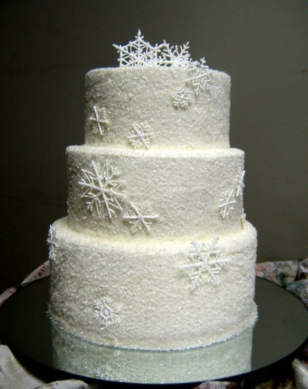 Another Gorgeous Snow Princess Cake How Do I Make Sugar Snowflakes Or Find That