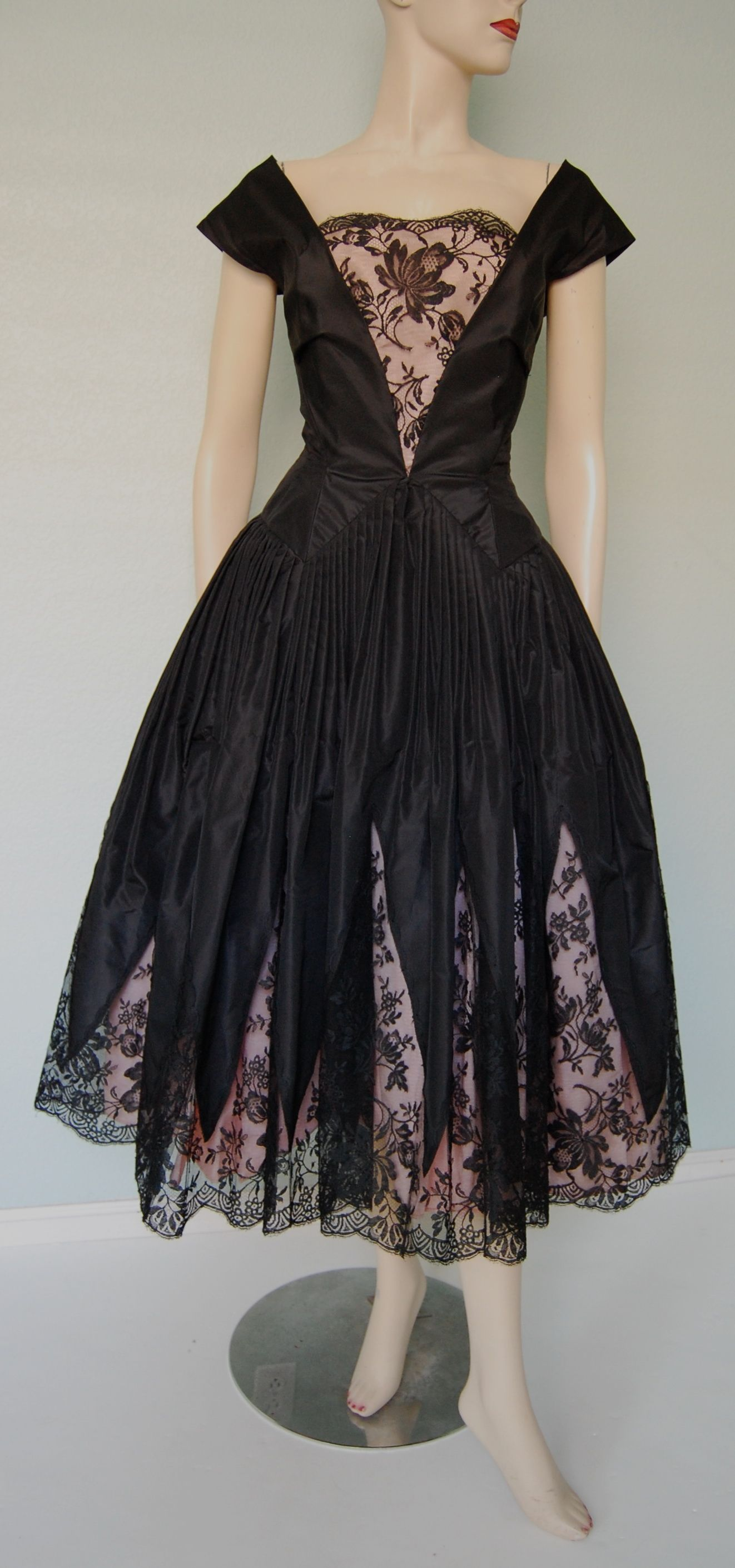 Us matte satin and french lace evening dress little blk dresses