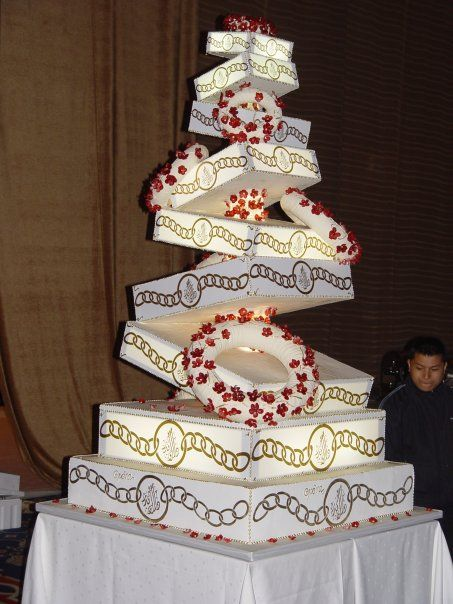 Wedding cake in Royal wedding Arabian Gulf