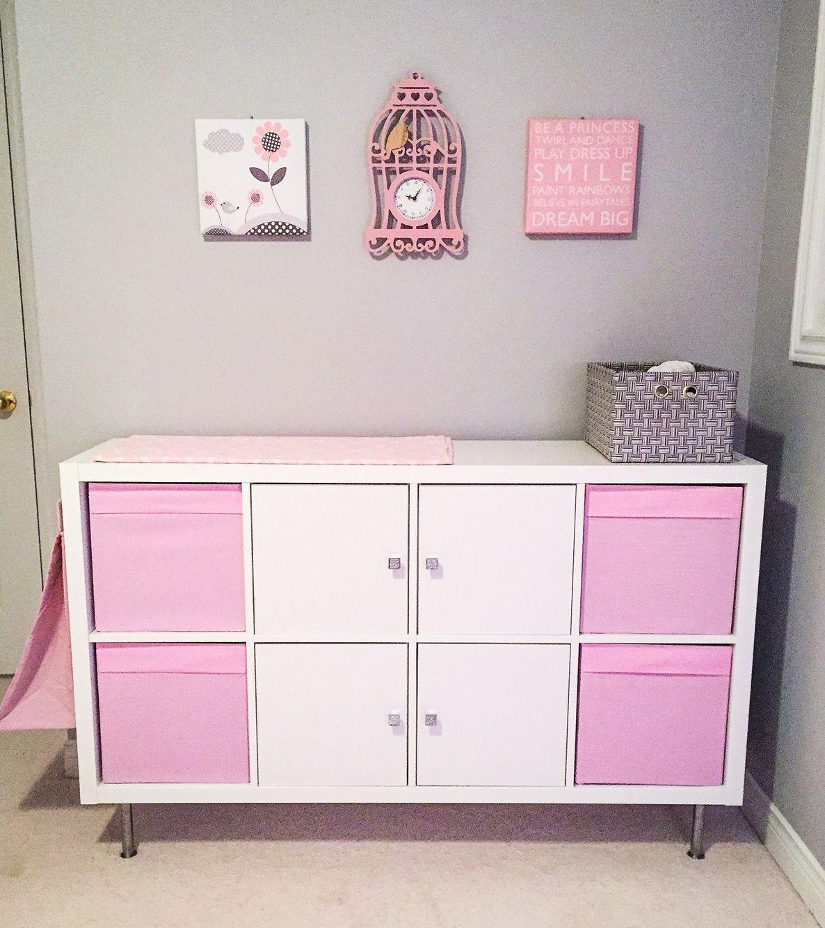 Baby Change Table Ikea Hack Kallax Shelf Joseph In 2019 Ikea