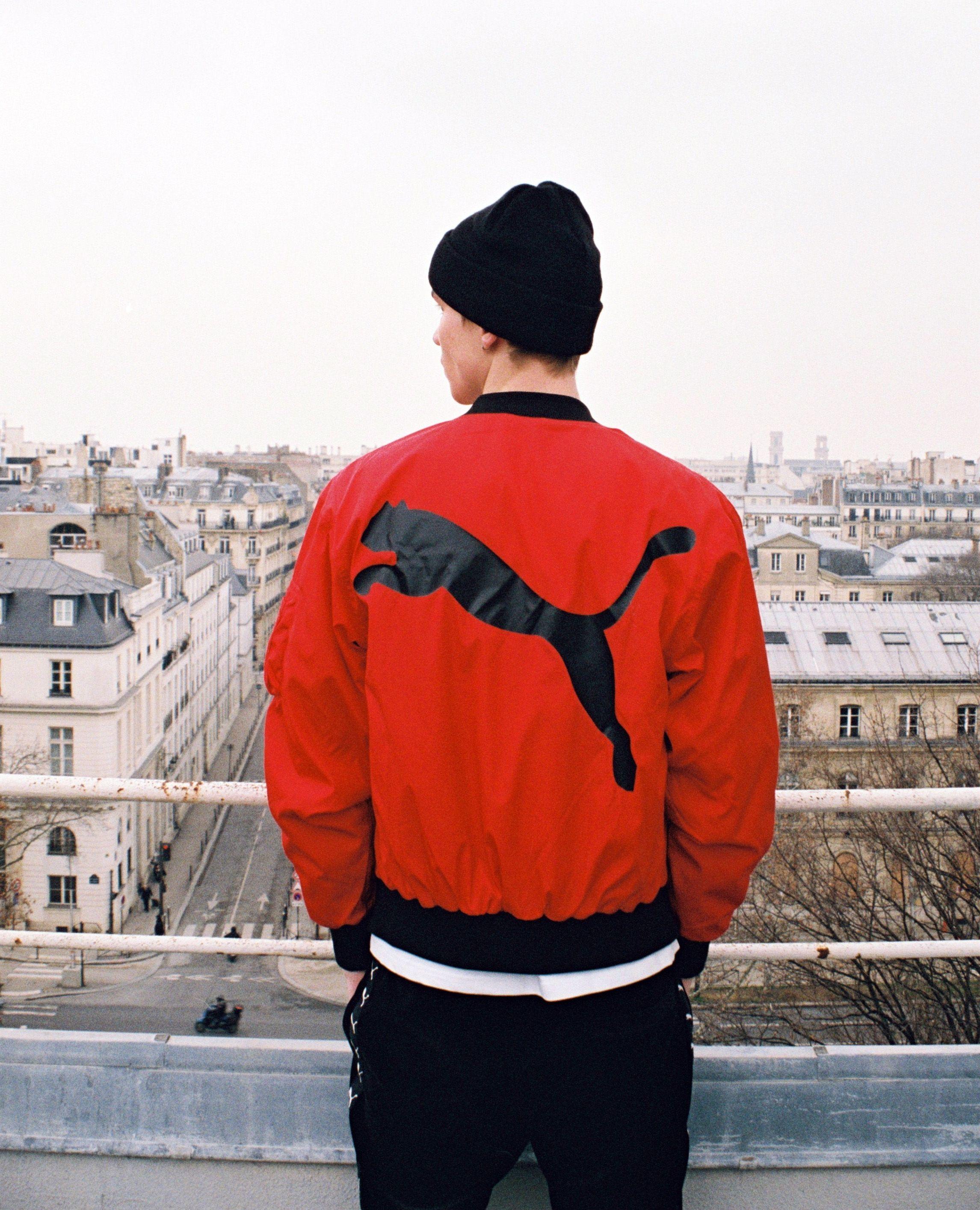 The Kooples Official Website Men Puma Cool Jackets Red Bomber Jacket Men [ 2829 x 2291 Pixel ]