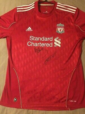 KENNY DALGLISH STEVEN GERRARD SIGNED LIVERPOOL 2010 AS TIME AS MANAGER SHIRT ebay link