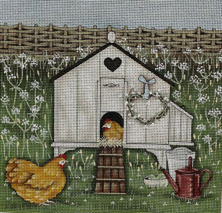 Sally Swannell for Painted Pony Designs | Hen House | #SS-FB01 | 8 x 8, 18 Mesh