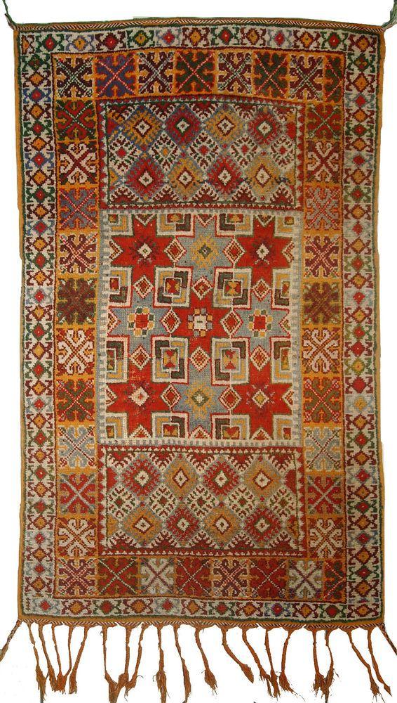 tapis ancien marocain berb re fait main 99cm x 168cm 1900 islamlove ruglove da vinci. Black Bedroom Furniture Sets. Home Design Ideas