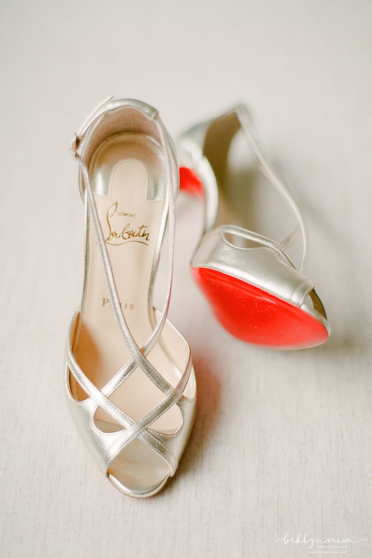 b3cad3ddd00 Champagne Colored Strappy Heels from Christian Louboutin. Red Sole ...