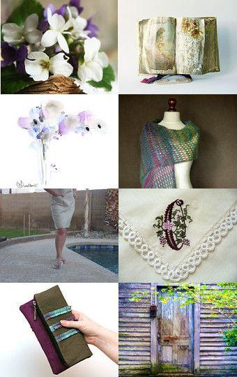 Beautiful finds in green and purple adorables detalles en verde y morado...
