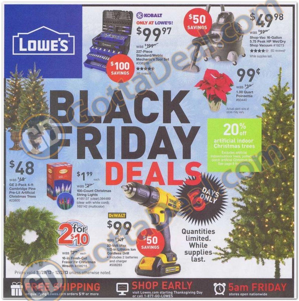 Lowe's Black Friday Ad 2013 Black friday ads, Black
