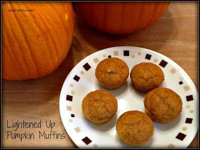 Utah Munchies: Lightened Up Pumpkin Muffins