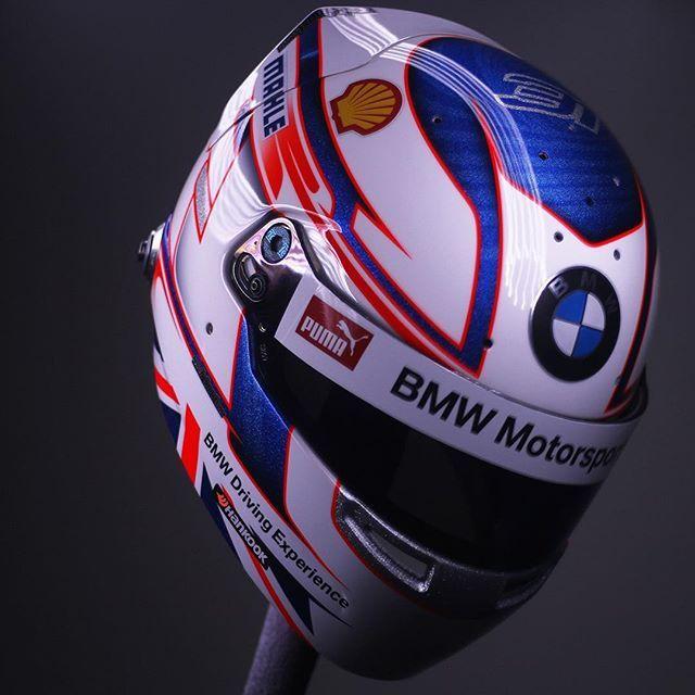 Freshly finished Bell HP7 for Helmart official BMW DTM driver @tom_blomqvist  full video to come! #helmartdesign • #allaboutdetail • #bellhelmets
