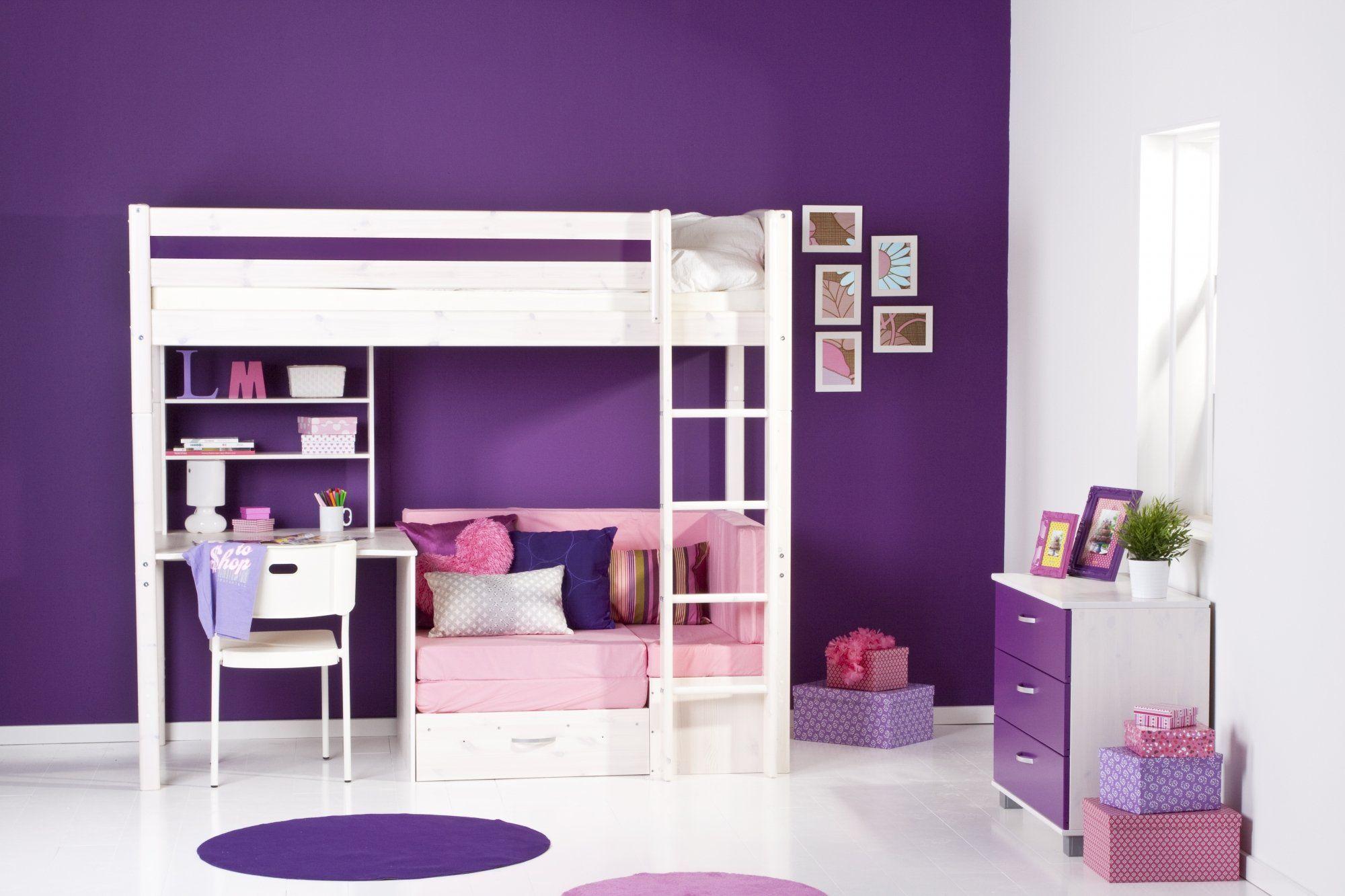 hoogslaper met bank van thuka trendy hoogslapers by. Black Bedroom Furniture Sets. Home Design Ideas