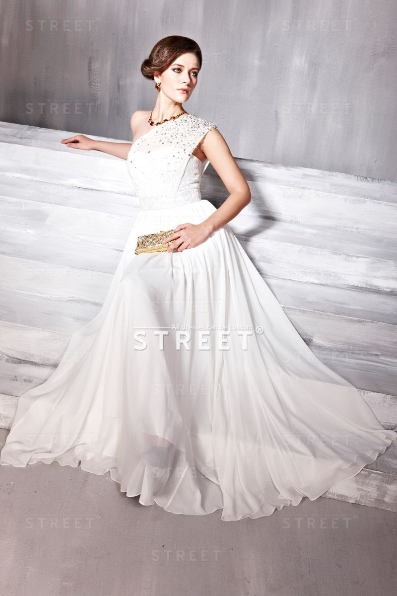 Outstanding White Goddess Prom Dress Vignette - Princess Wedding ...