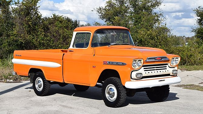 1959 Chevrolet Napco Pickup 4 Speed 4 Wheel Drive Pickup Trucks