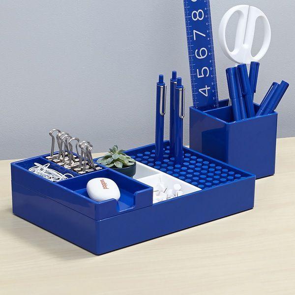 Poppin Cobalt Modern Desk Accessories   Cool Office Supplies #workhappy