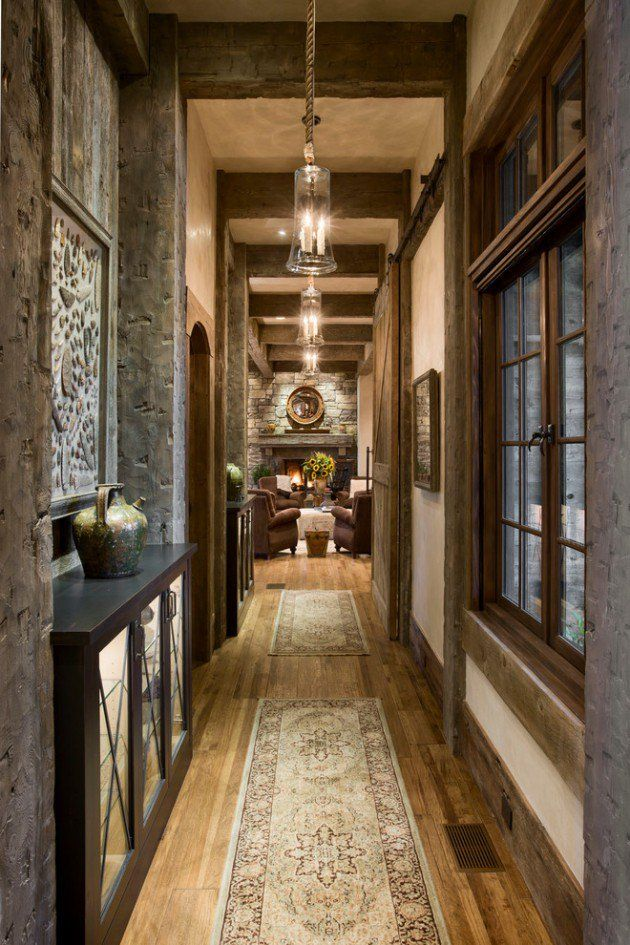 16 Great Rustic Hallway Designs That Will Give You Amazing
