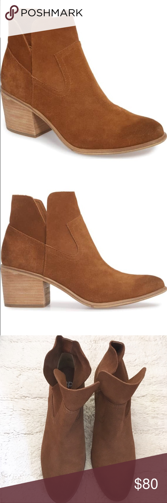 d6974b35f56 Bp Brice Notched Bootie A notched topline brings angular shape and easy-on  convenience to a Western-inspired bootie kicked up with a high squared vamp  and a ...
