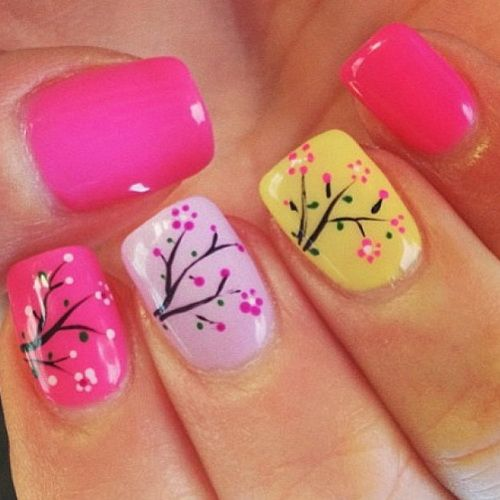 16 spring nail designs for women holiday nail designs short 16 spring nail designs for women prinsesfo Images