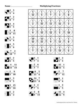 Multiplying Fractions Color Worksheet Juegos Didacticos De