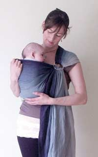 how to wear ring sling baby