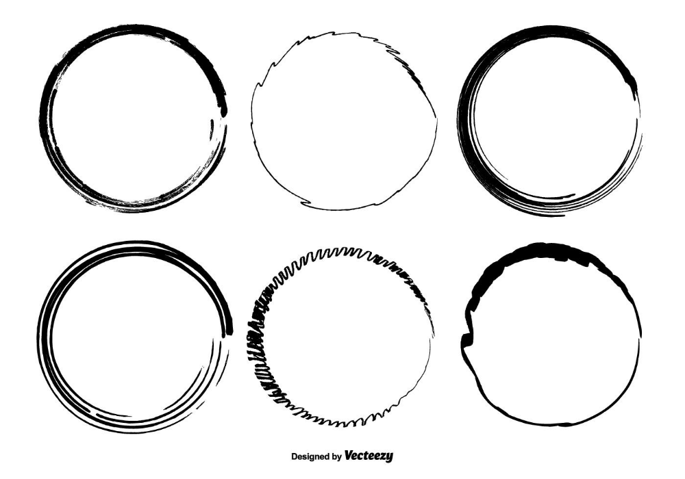 Hand Drawn Circle Vector Shapes Vector Shapes Vector Art Design How To Draw Hands
