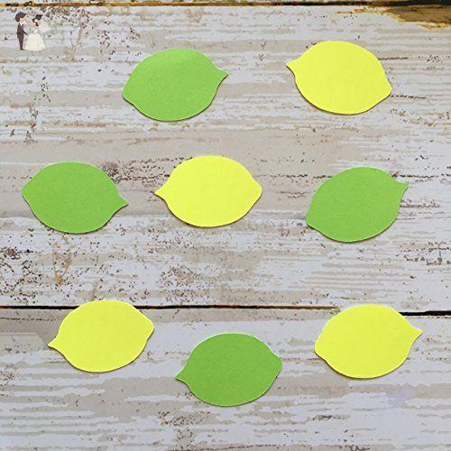 Lemon Lime Confetti, Lemon Decorations, Summer Party Supplies - confeti