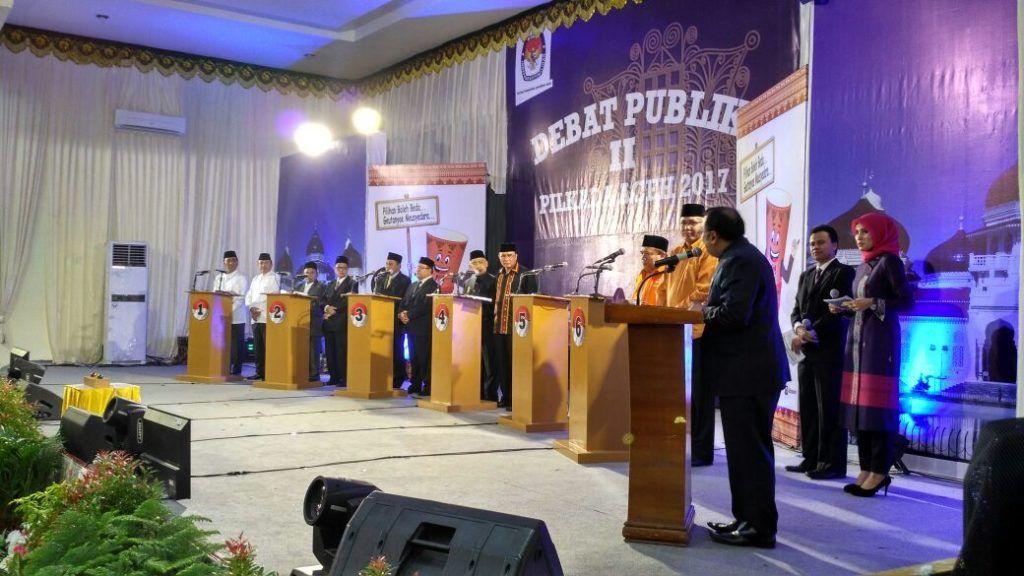 Muzakir Manaf Belum Kelihatan pada Acara Debat Kandidat Tahap II