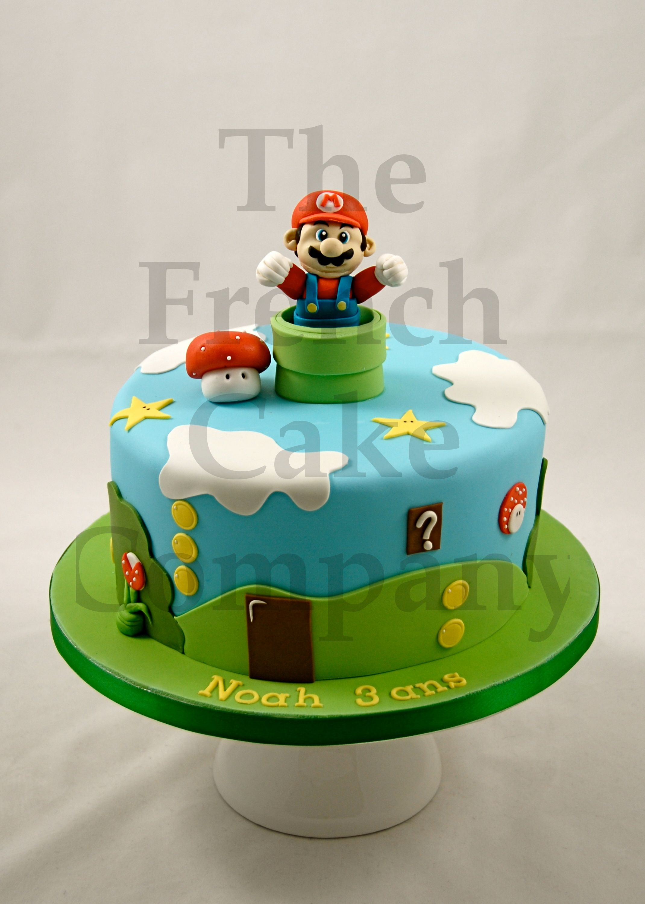 cake for boys mario gateau d 39 anniversaire pour enfants garcon mario verjaardagstaart. Black Bedroom Furniture Sets. Home Design Ideas