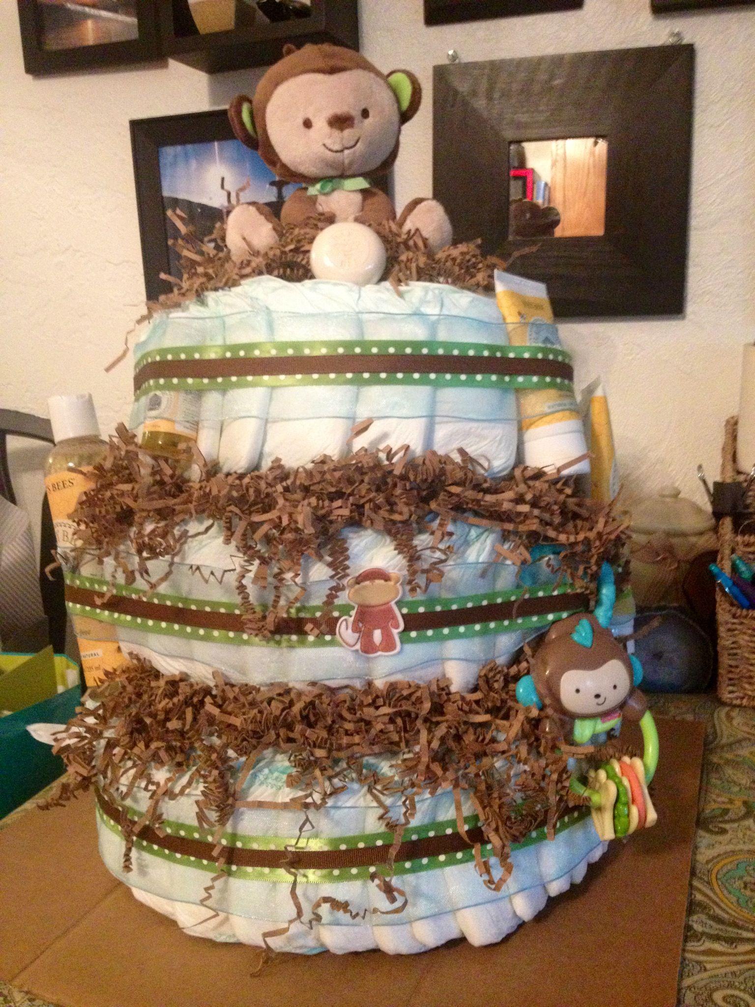 Baby boy diaper cake baby shower wishes baby diaper