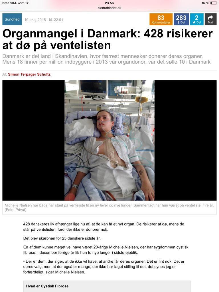Er organmangel godt eller dårligt? 428 skal dø fordi 428 risikerer at dø på venteliste #dkpol  http://ekstrabladet.dk/kup/sundhed/organmangel-i-danmark-428-risikerer-at-doe-paa-ventelisten/5555591…