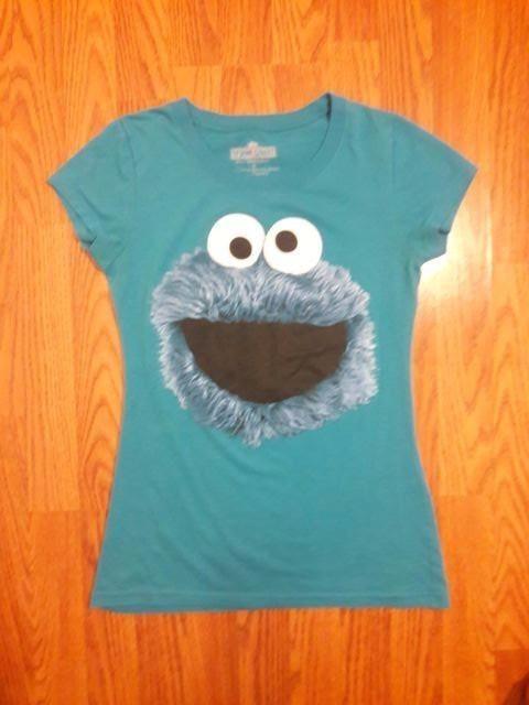 84b7792c Cookie Monster Women shirt junior size medium Sesame Street #SesameStreet  #GraphicTee