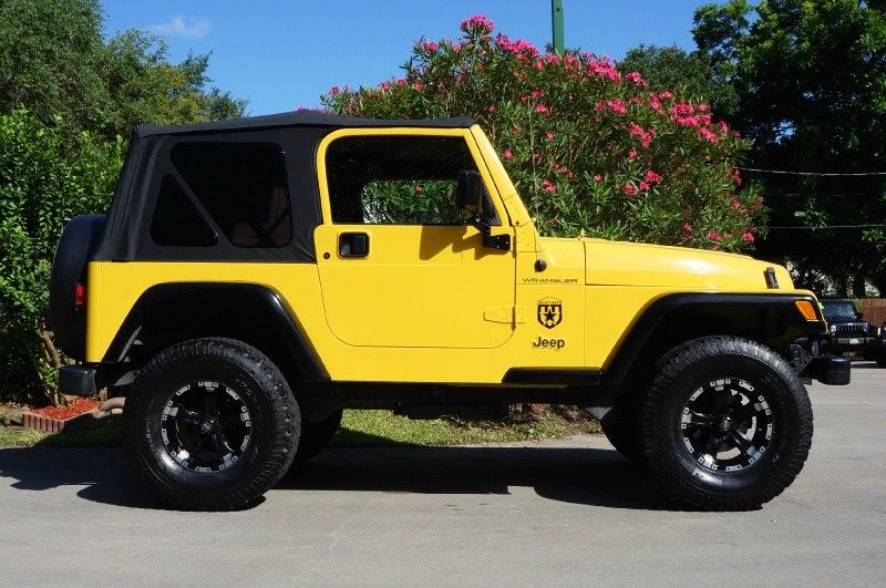 2002 Solar Yellow Wrangler SE  4 Cylinder with 157k MilesCold AC