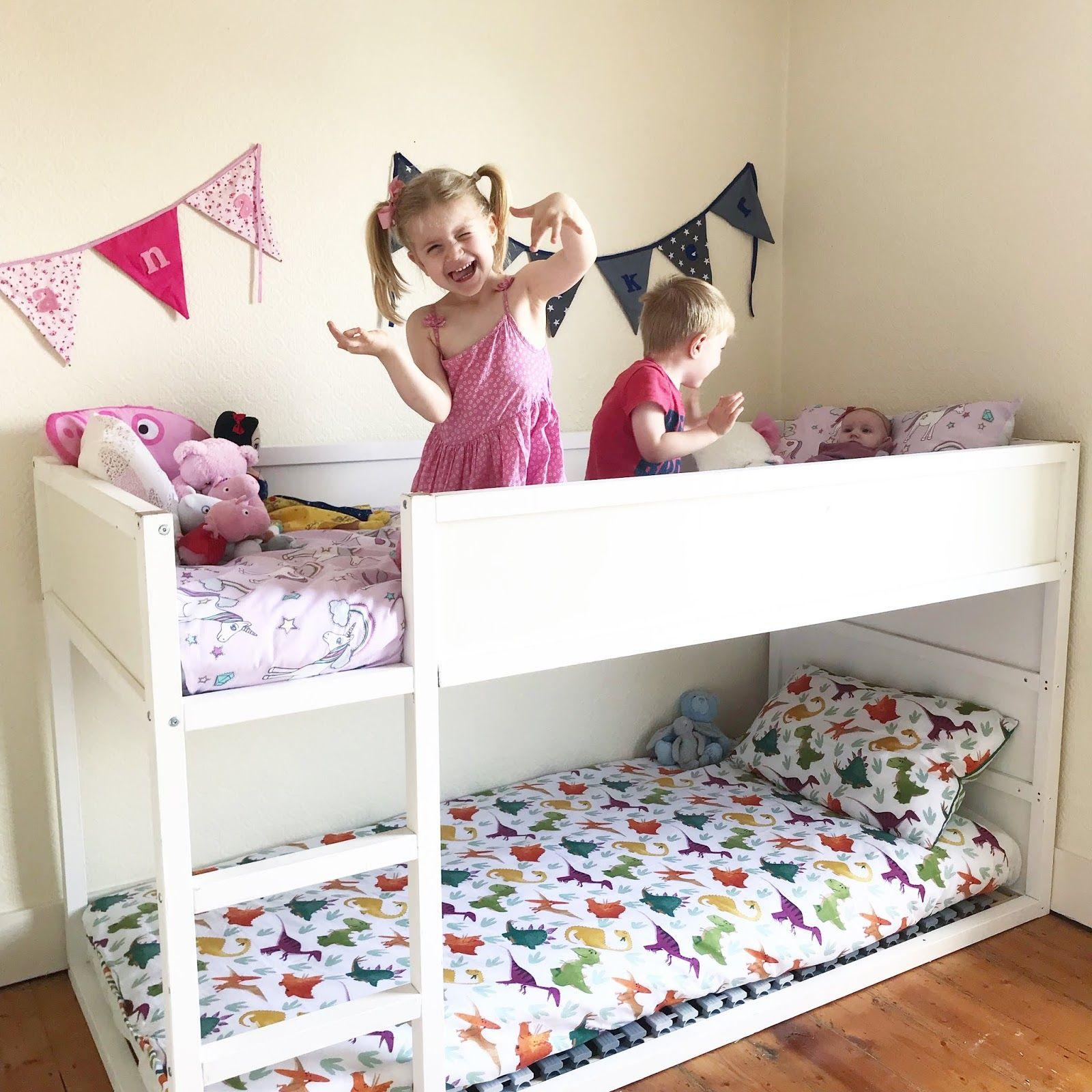 Simple Ikea Kura Bunk Bed Hack In 2018 Elija Thalia Shared Room